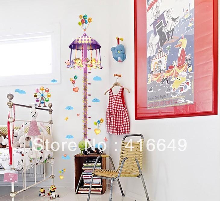 Cartoon Height DIY Removable Large Cute vinyl Murals Wallpaper Home 730x669