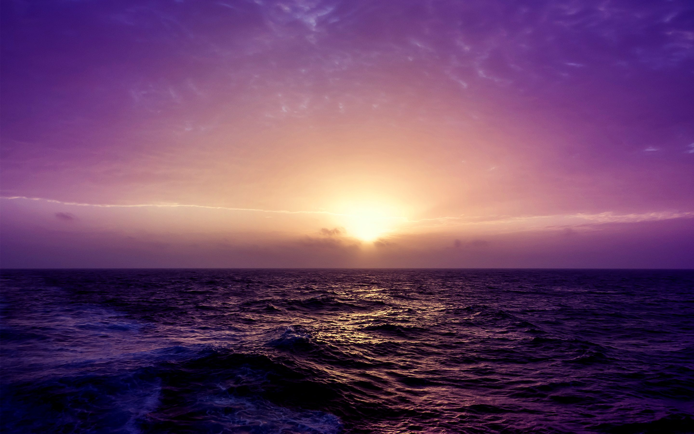 Purple Sea Sunset Wallpapers | HD Wallpapers