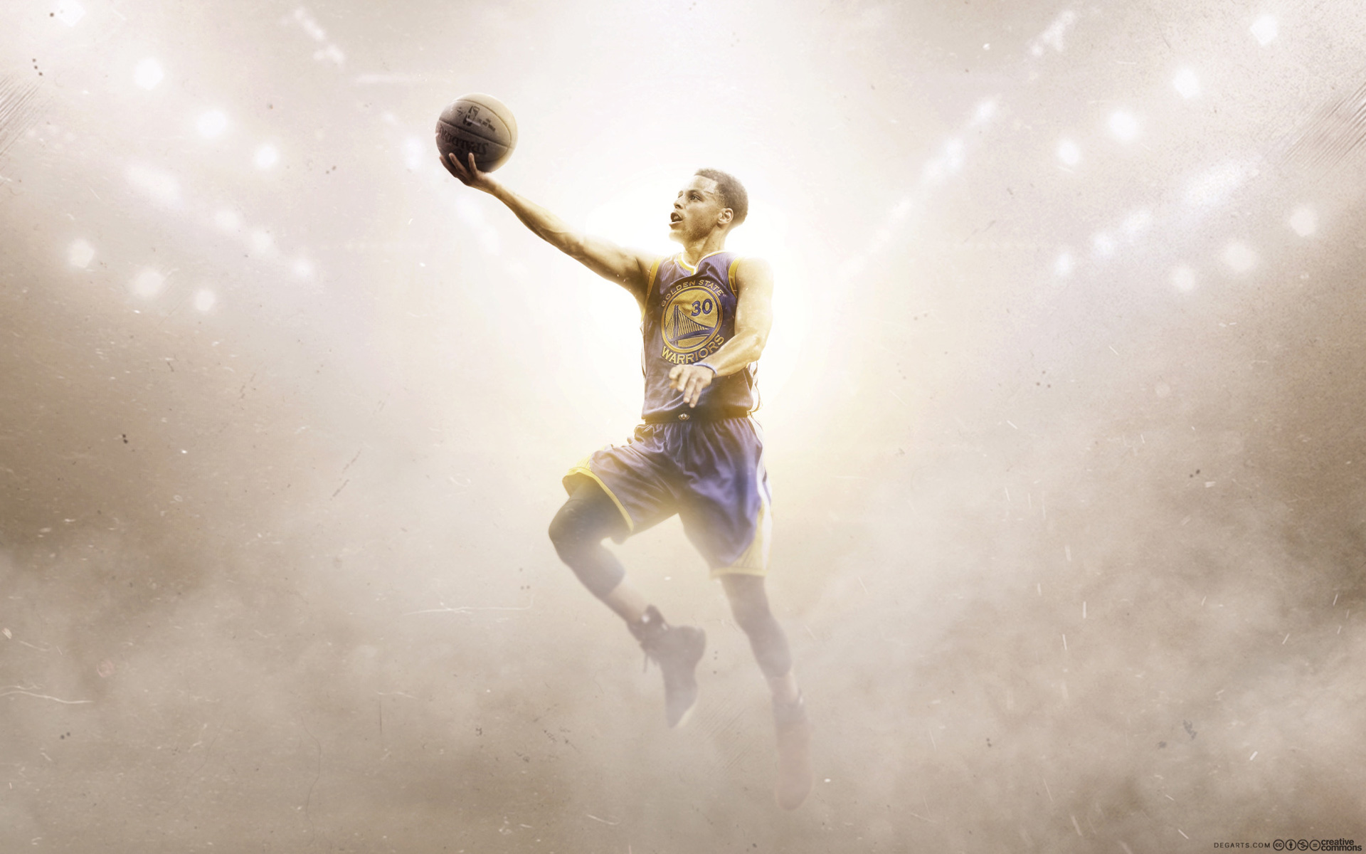 Stephen Curry Golden State Warriors Layup Wallpaper 1920x1200
