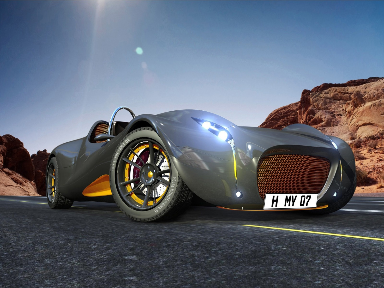 Cars Wallpapers 3D Concept Cars Backgrounds 3D Concept Cars 1600x1200