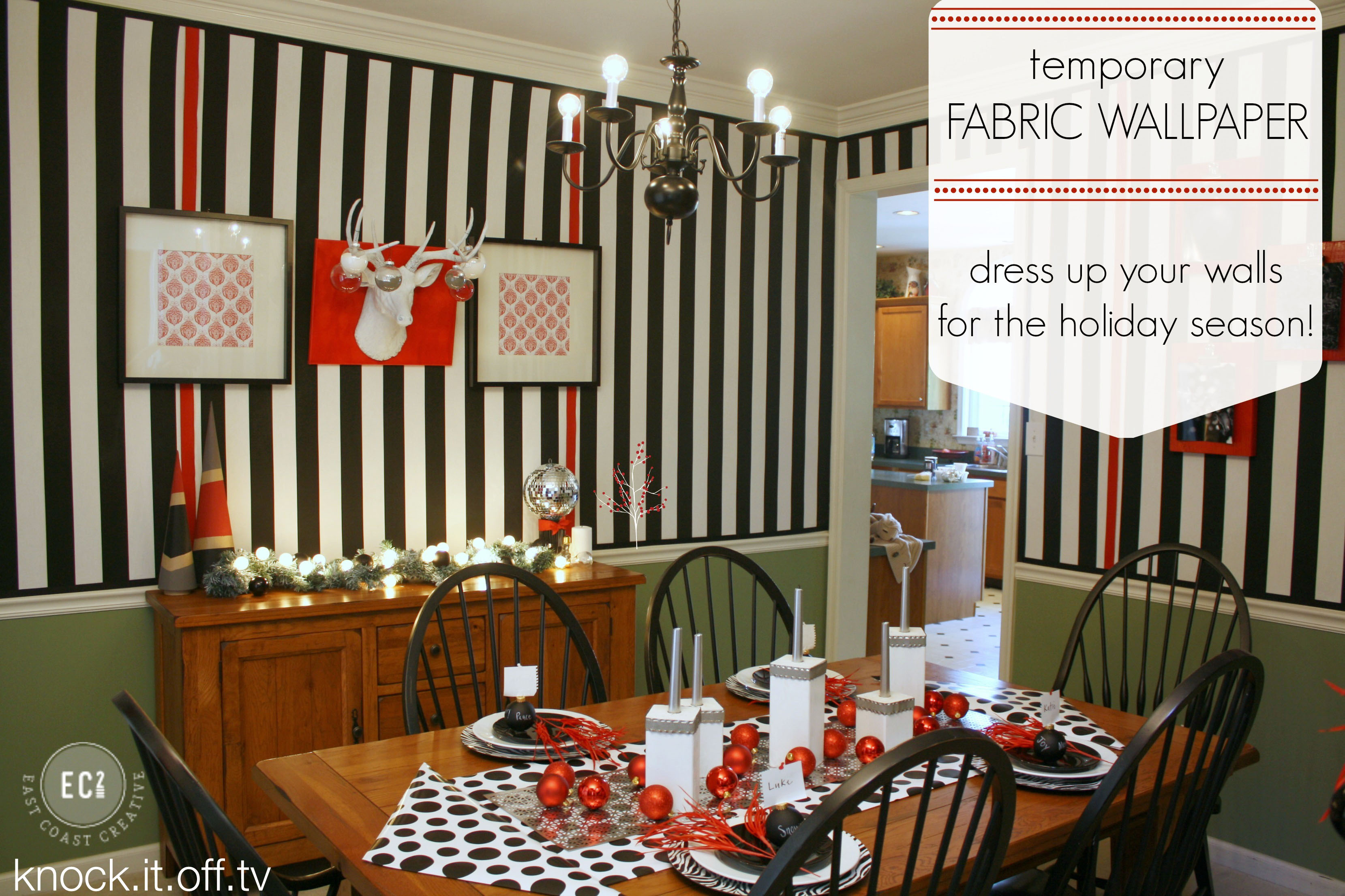 Temporary Fabric Wallpaper  Perfect for the Holidays   East Coast 3318x2212