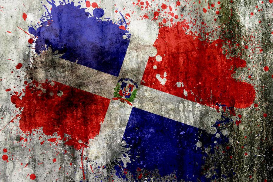 Dominican Flag Splatter by noizkrew 900x601