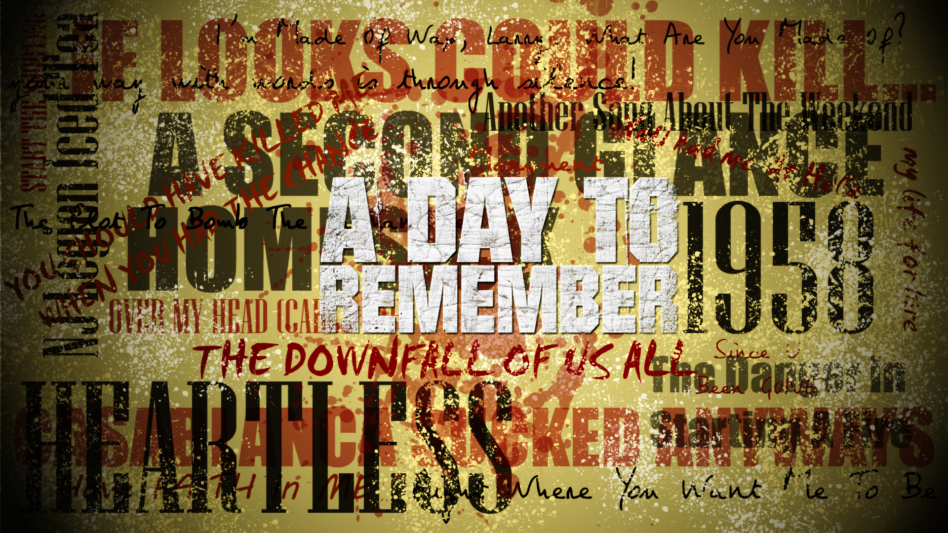 Day To Remember   Song Wall by SYL4R32 1920x1080