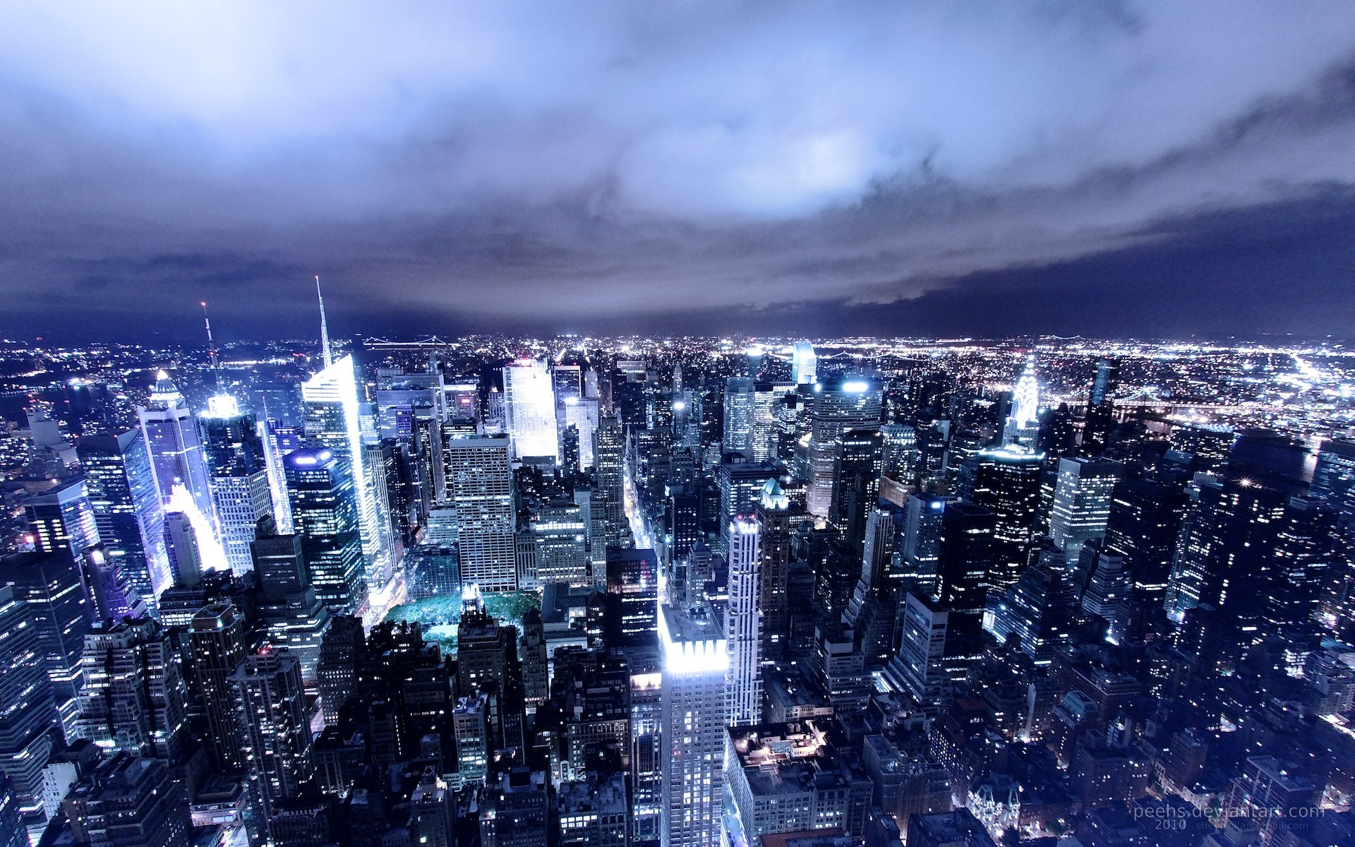 Download Just Another City HD Wallpaper 1920x1200
