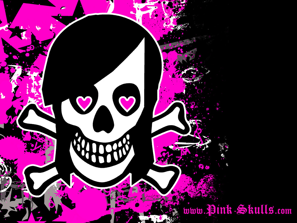 Emo Scene Girl Skull wallpaper   ForWallpapercom 1024x768