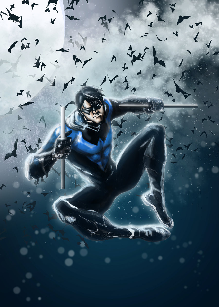 Free Download Nightwing Blue By Leonardoenrique 900x1260 For Your Desktop Mobile Tablet Explore 49 New 52 Nightwing Wallpaper Nightwing Hd Wallpaper Batman New 52 Wallpaper Nightwing Desktop Wallpaper