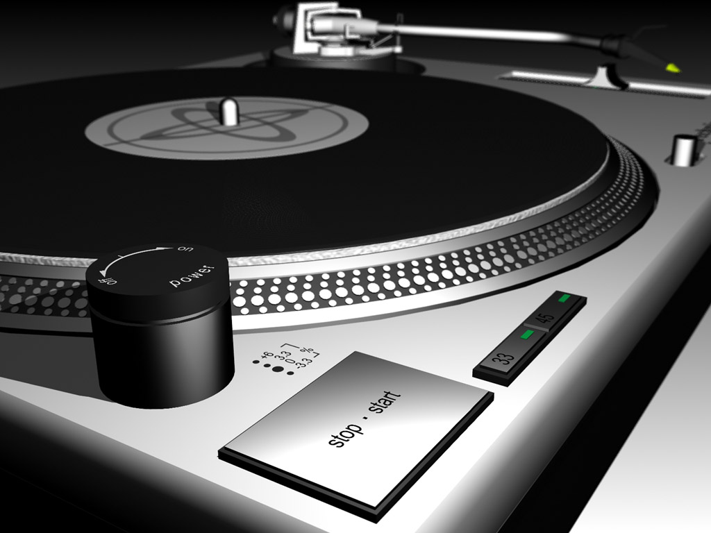 Dj Turntable Wallpaper 1024x768