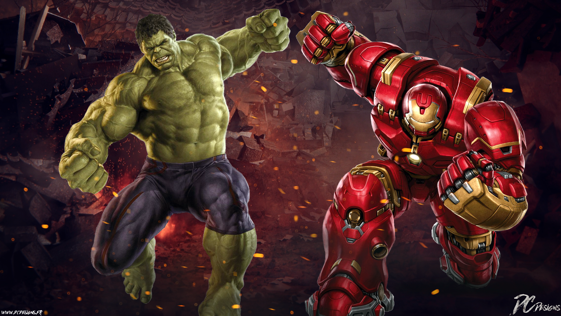 Hulk Vs Hulkbuster HD Wallpaper Background Image 1920x1080 1920x1080
