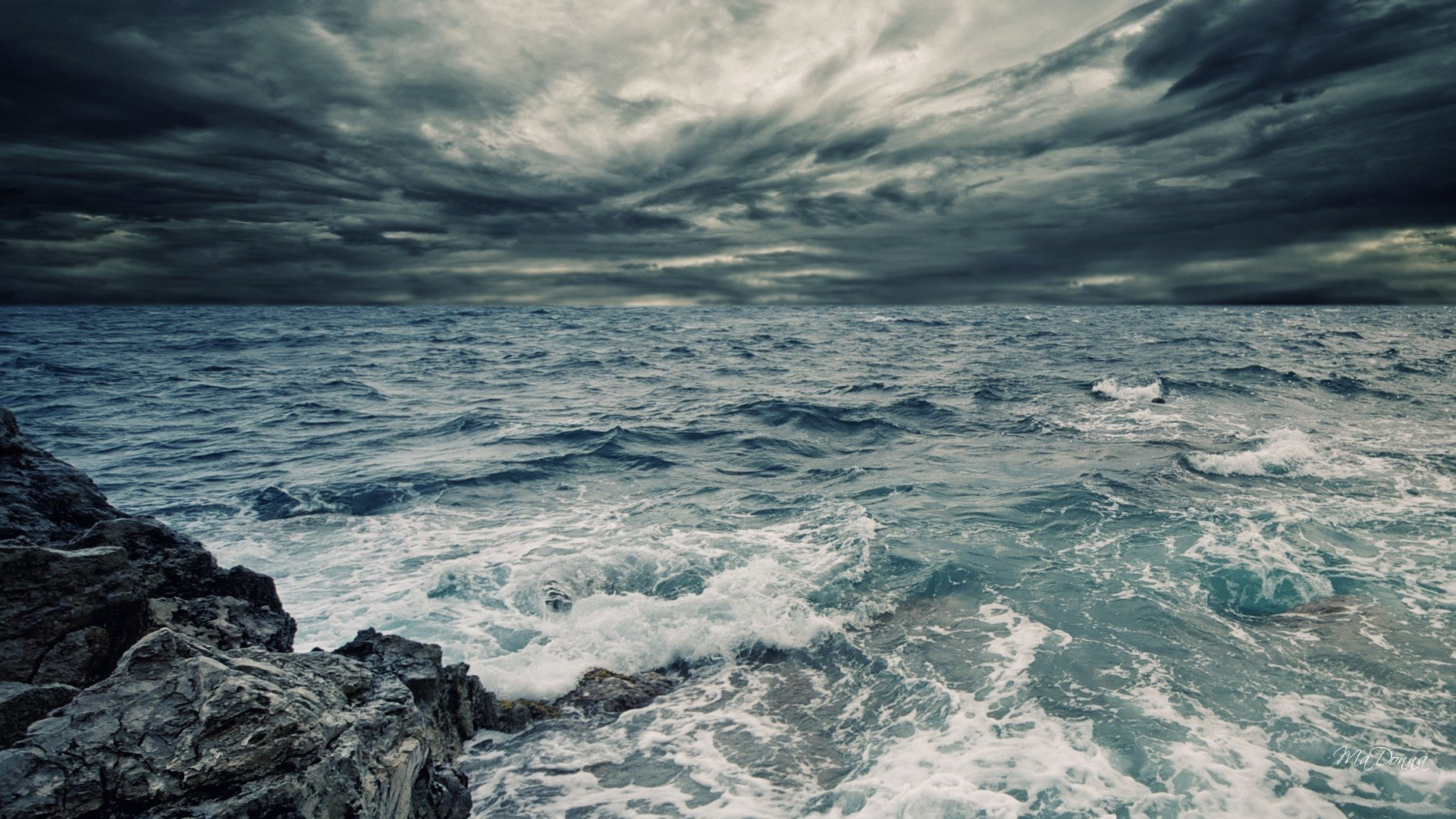 Stormy Sea Sky wallpaper - ForWallpaper.com