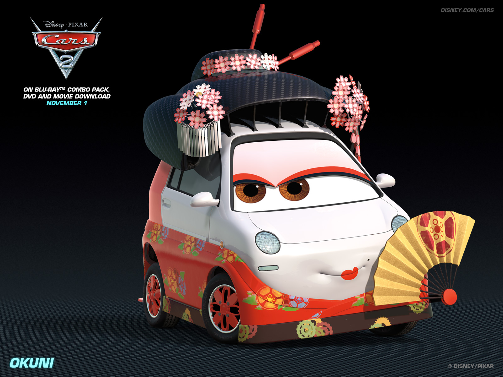 Okuni   Disney Pixar Cars 2 Wallpaper 28262173 1600x1200