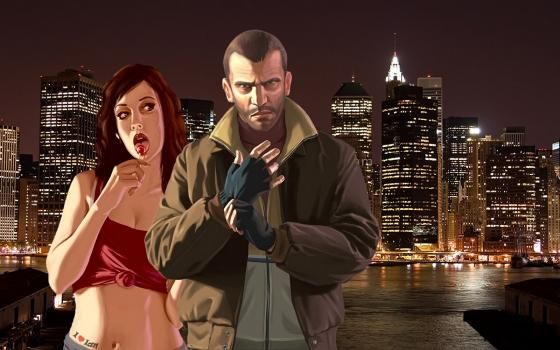 Download Grand Theft Auto 4 Niko Girl wallpaper 560x350