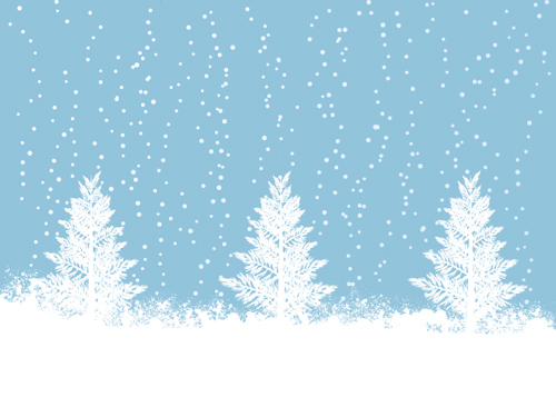 Elements of Winter with Snow backgrounds vector 05   Vector Background 500x375
