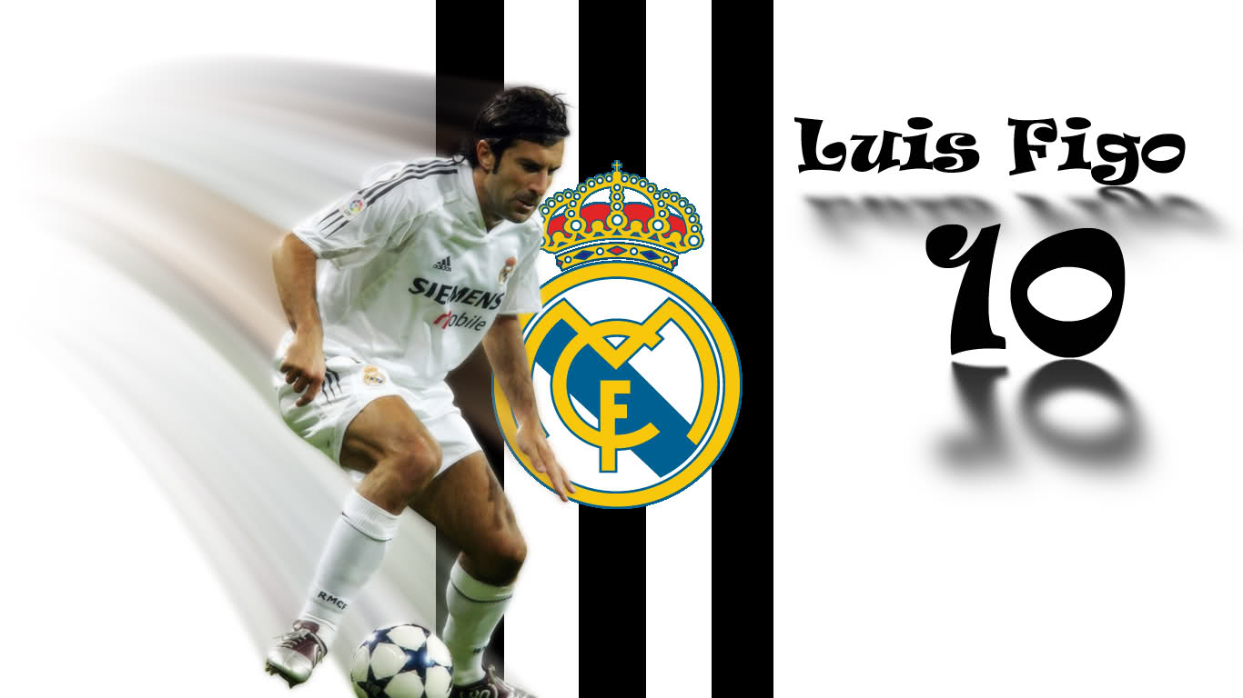 Luis Figo Football Wallpaper 1366x768
