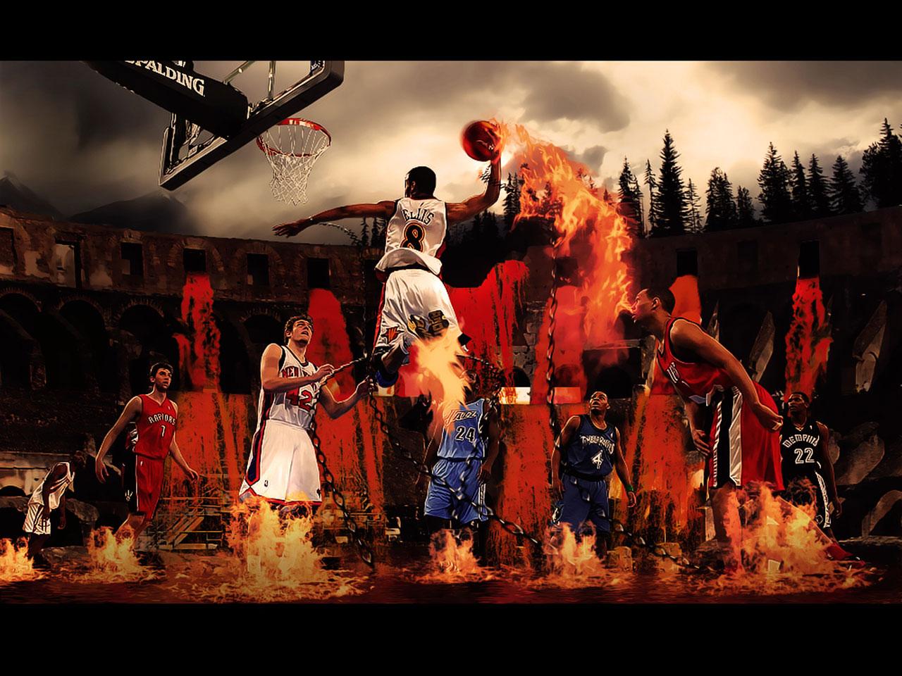 Flame Dunk Wallpaper Basketball Wallpapers at BasketWallpaperscom 1280x960
