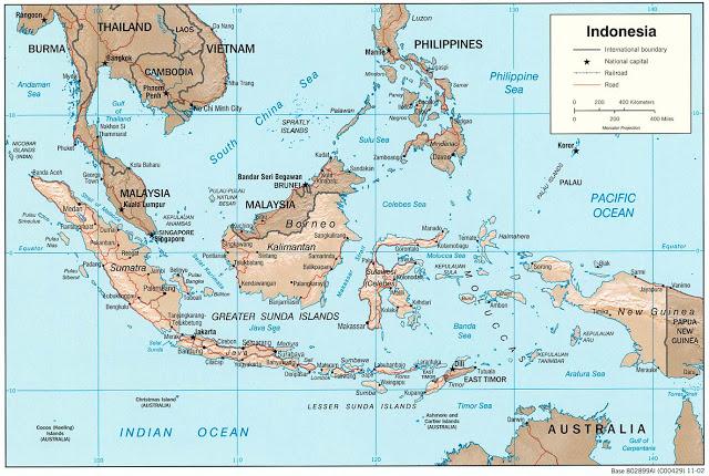 Gambar Peta Dunia dan Indonesia 640x430