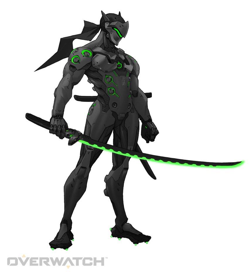 Black Genji Green   Overwatch by PlanK 69 860x928