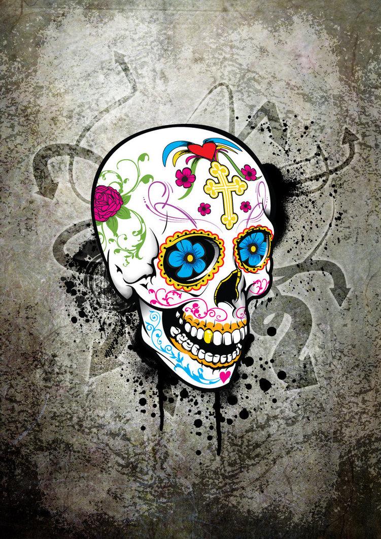 hd sugar skull wallpaper wallpapersafari