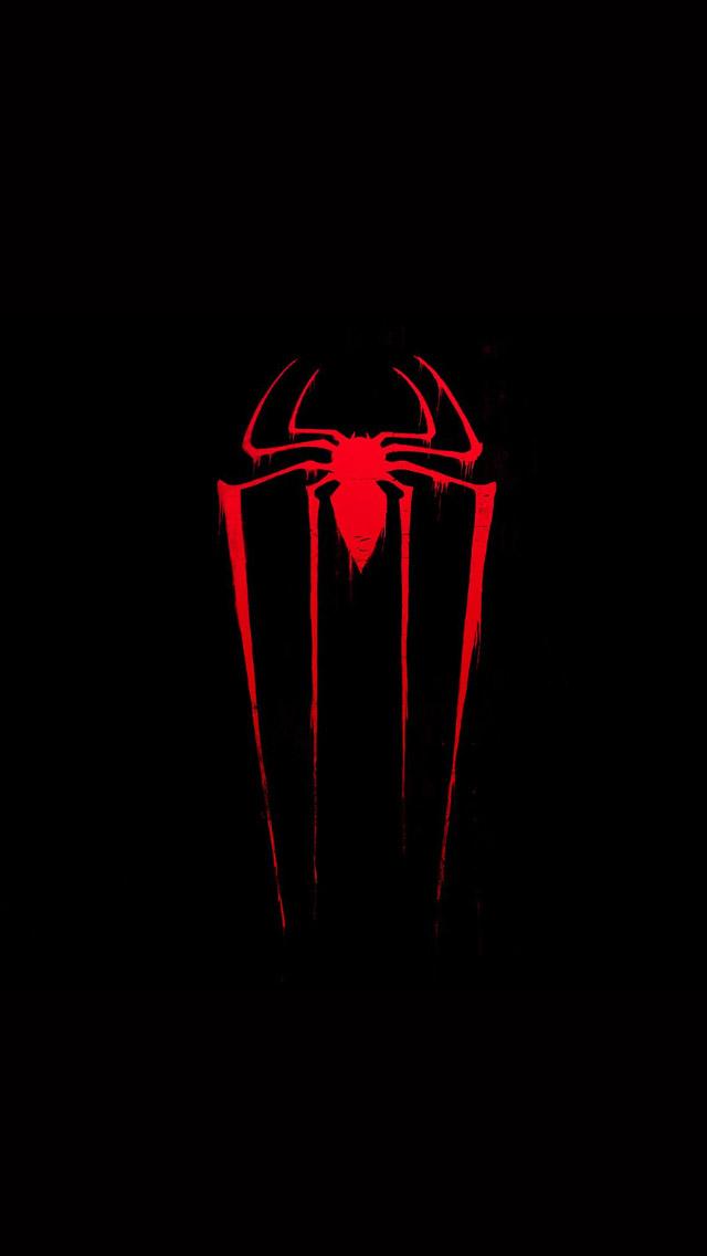 FREEIOS7 spider man logo   parallax HD iPhone iPad wallpaper 640x1136