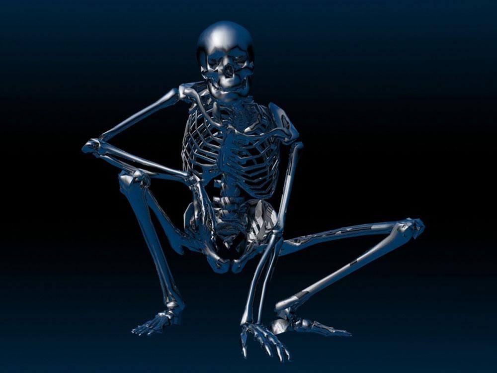 Skull 3d Wallpaper: 3D Skeleton Wallpaper