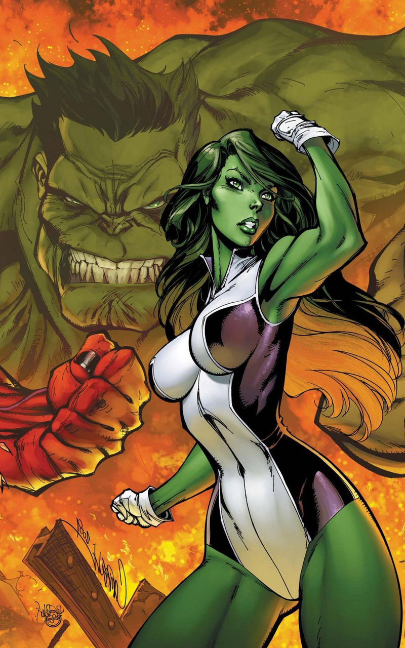 She Hulk Wallpaper 800x1280