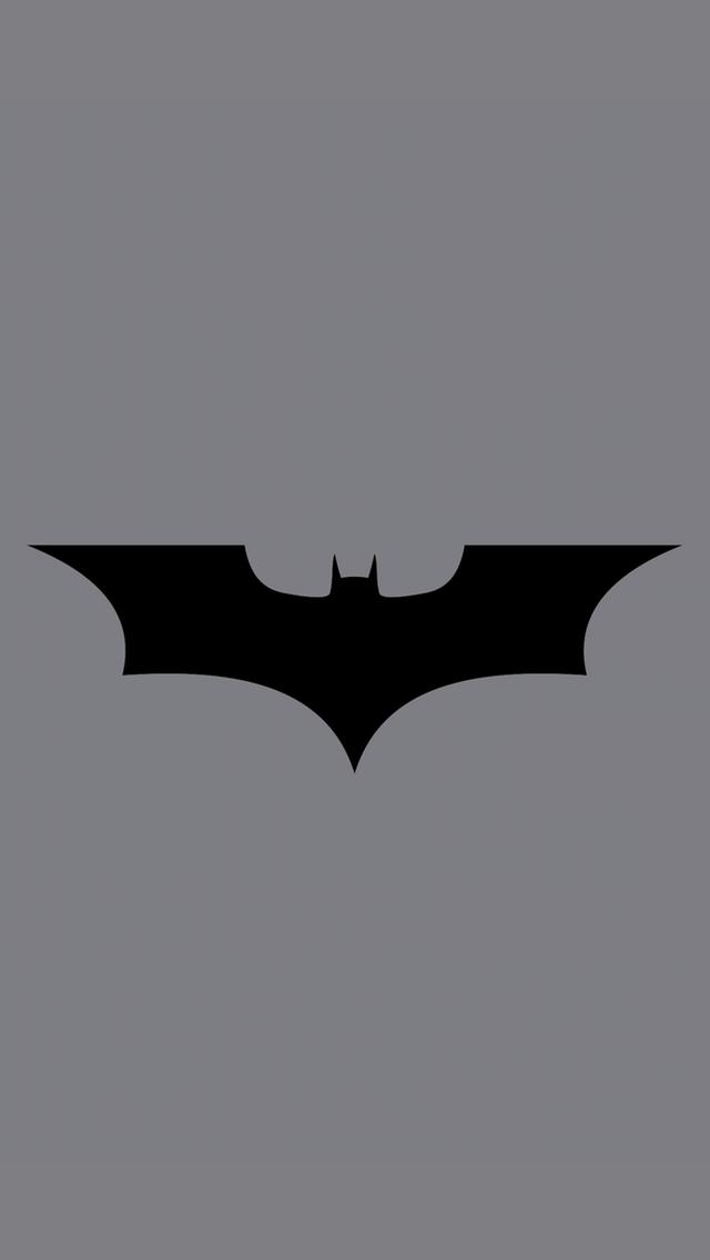 Batman Logo Grey BG iPhone 5 Wallpaper 640x1136 640x1136