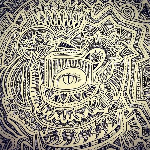 of Black White Indie Art Patterns Pen Ink Wallpaper x We Heart It 500x500