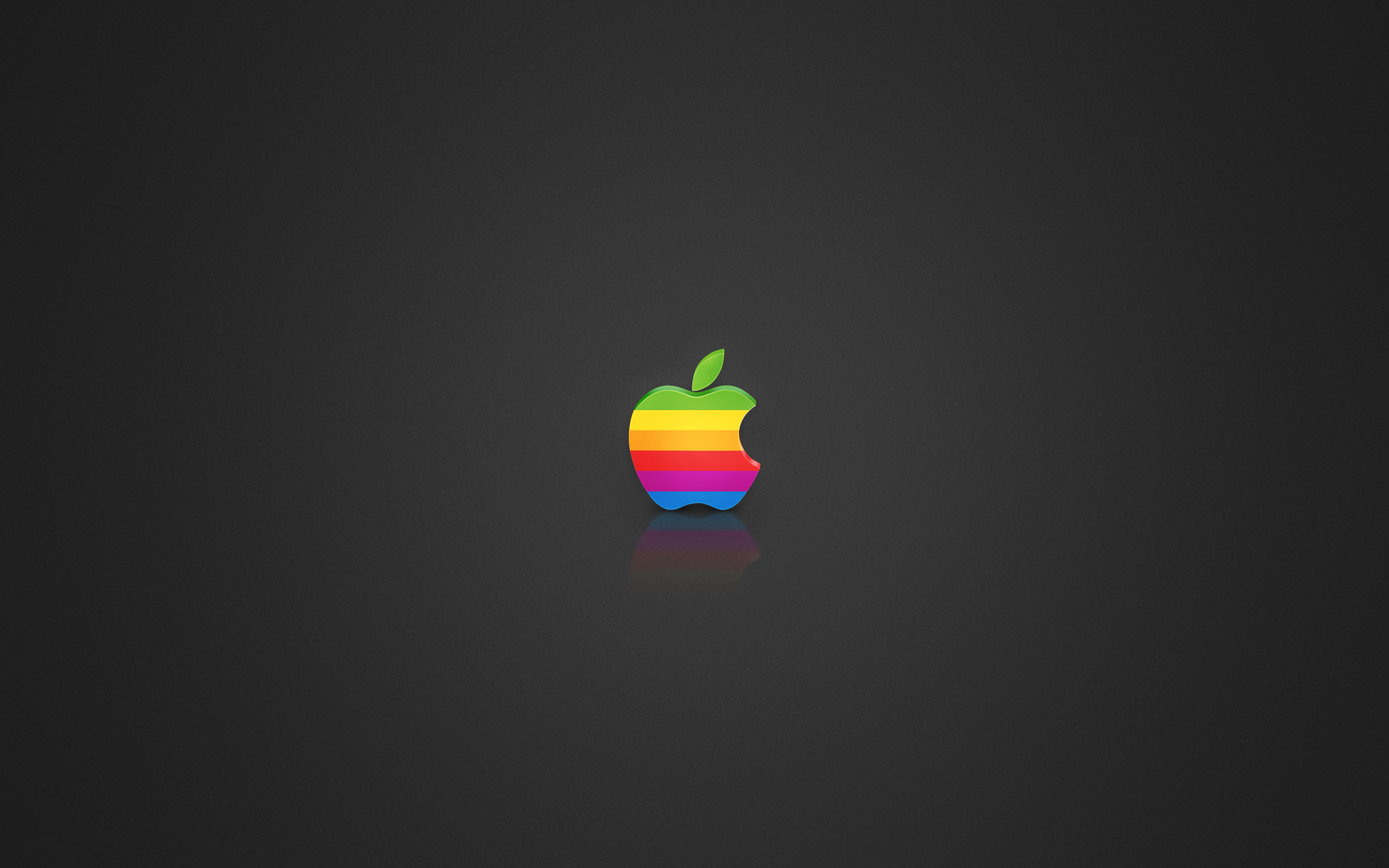 2560x1600 Coloured Apple logo desktop PC and Mac wallpaper 2560x1600