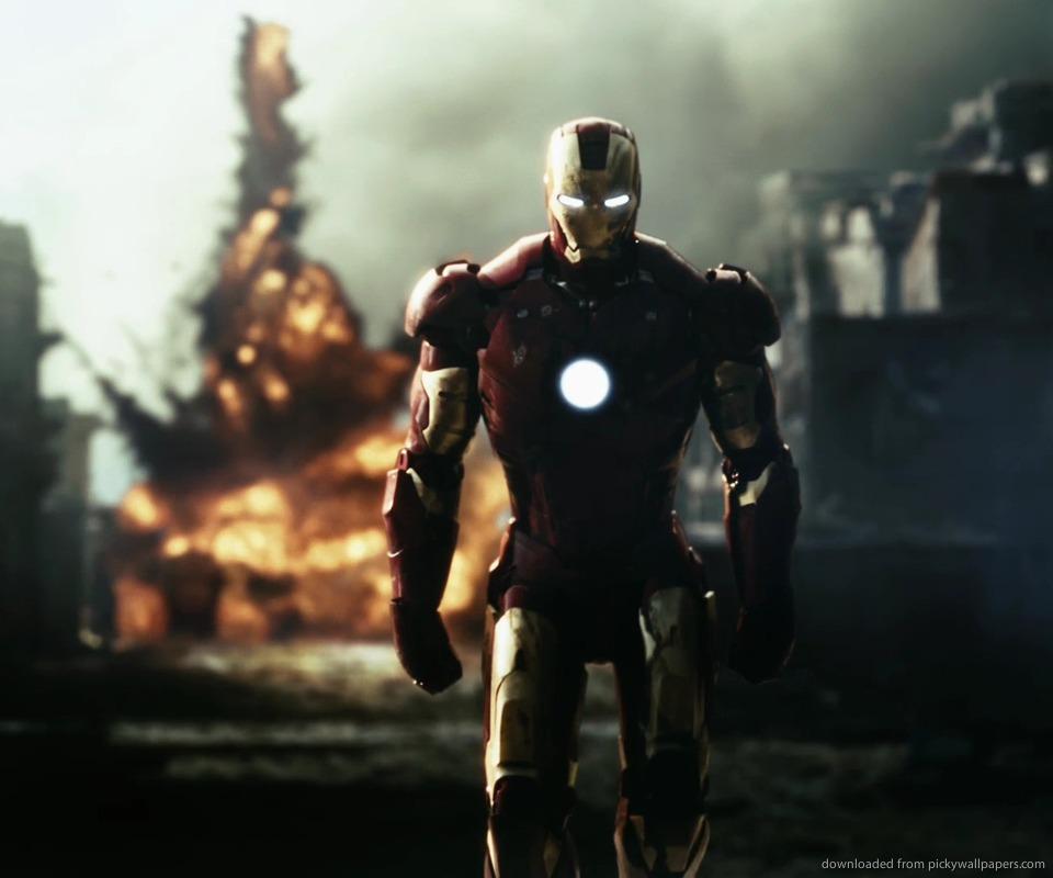 Download Iron Man destruction wallpaper for Samsung Epic 960x800