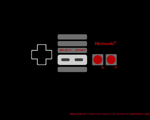 Nes controller wallpaper by tibots 500x400