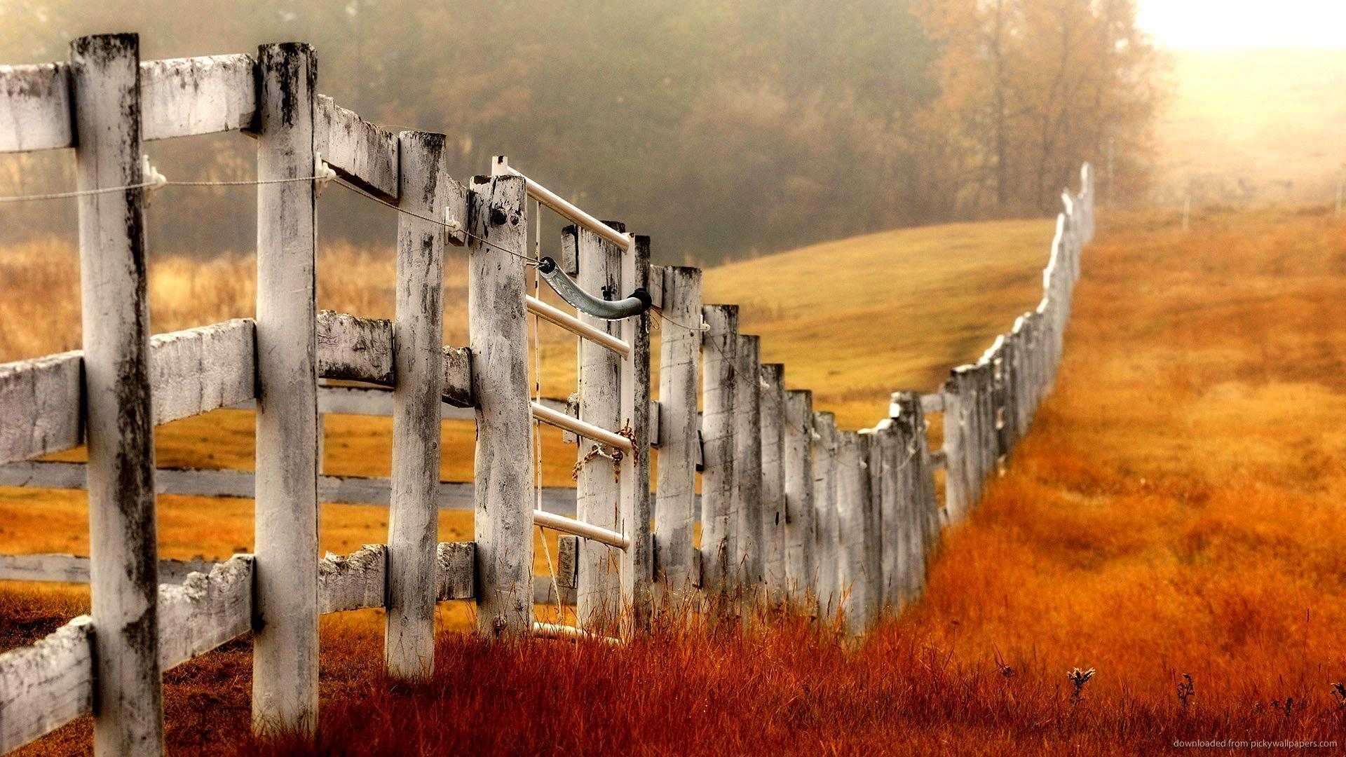 iPad Country Farm Fence Wallpaper Screensaver For Kindle3 And DX 1920x1080