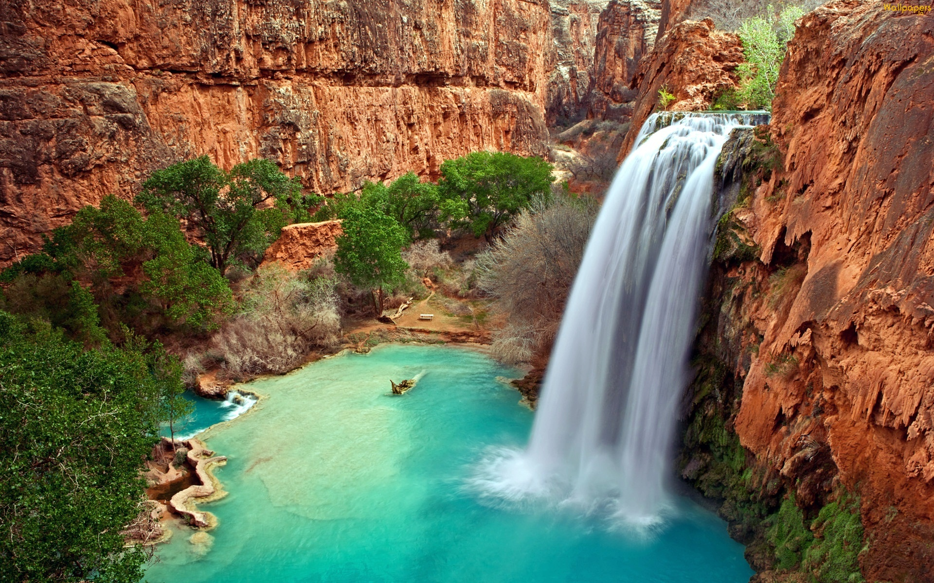 Daily Wallpaper Beautiful Havasu Falls in Arizona I Like To Waste 1920x1200