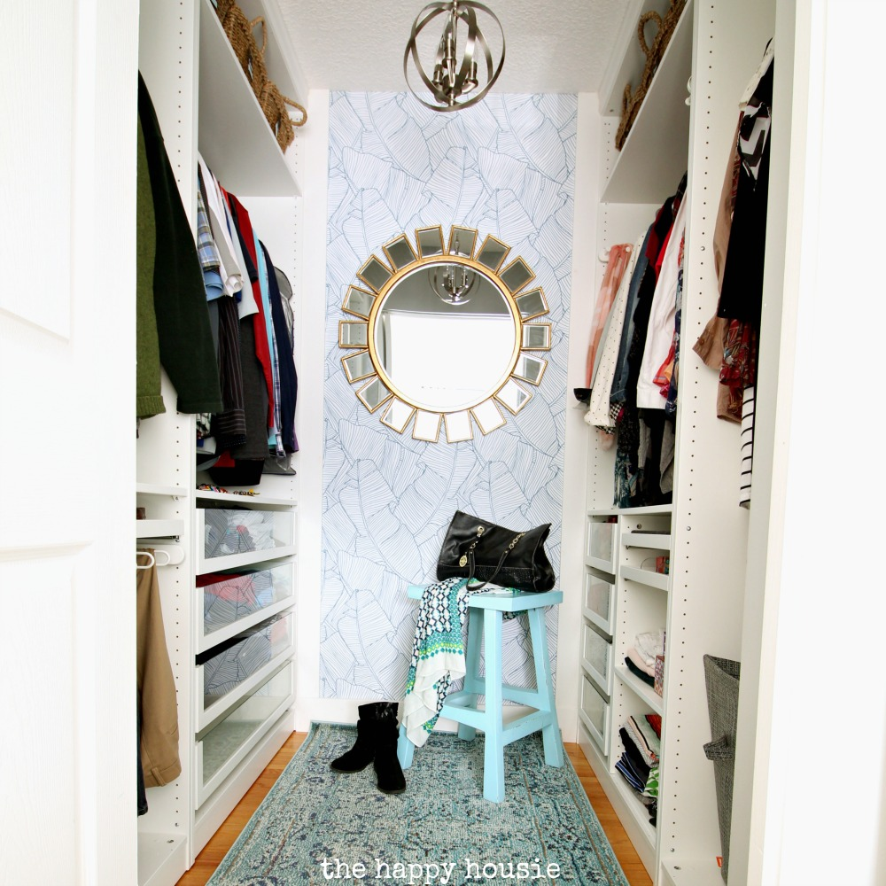 Small Walk in Closet Makeover Reveal with Ikea Pax Removable 1000x1000