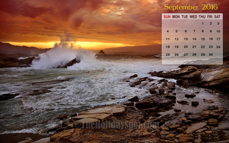 September Calendar Wallpaper 2016 1440x900