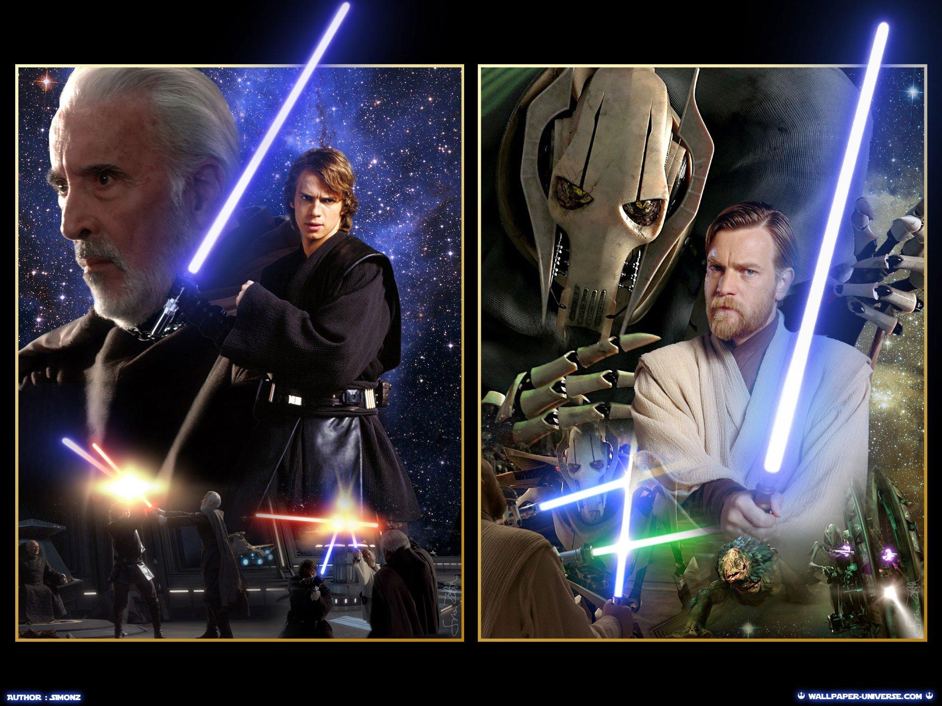 Anakin vs Dooku Obi Wan vs General Grievous HD wallpaper and 1920x1440