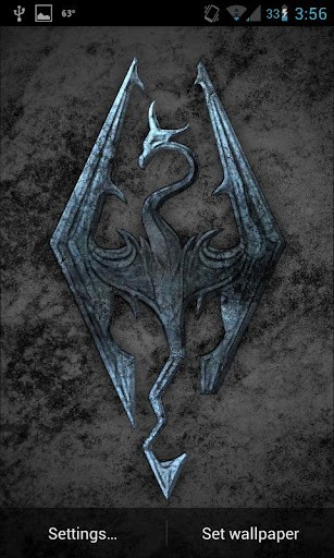 View Bigger SKYRIM LIVE WALLPAPER Revamped For Android Screenshot 307x512
