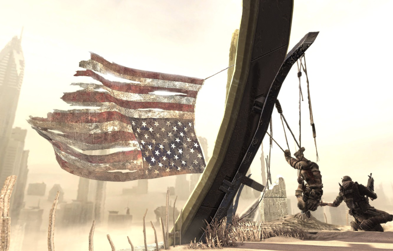 Wallpaper sand soldiers American flag Spec OpsThe Line images 1332x850