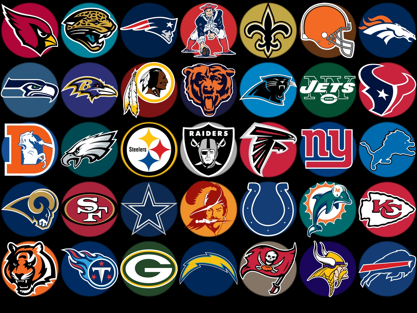NFL Logos Collection 1365x1024