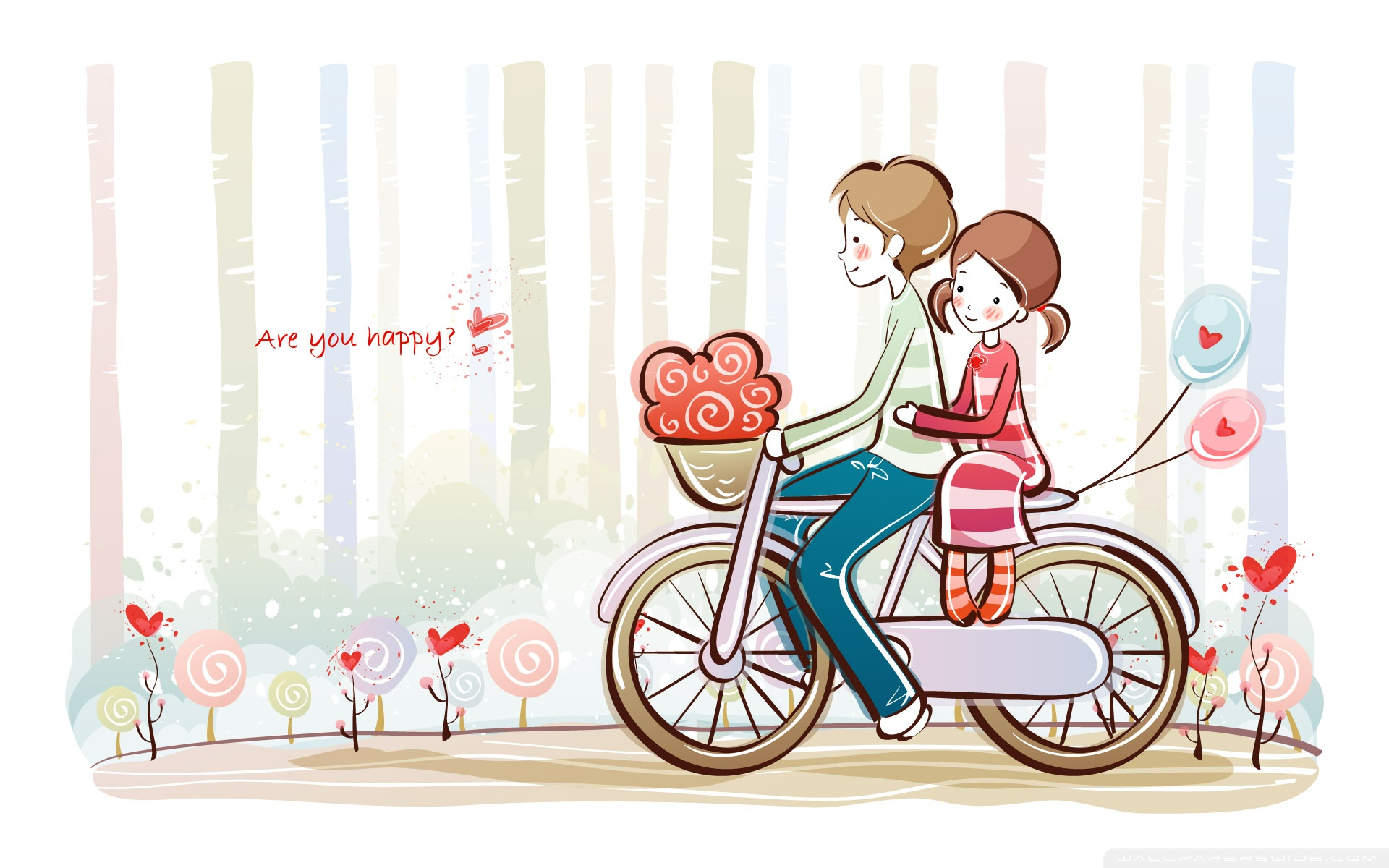 cute valentine love Wallpapers 1920x1200