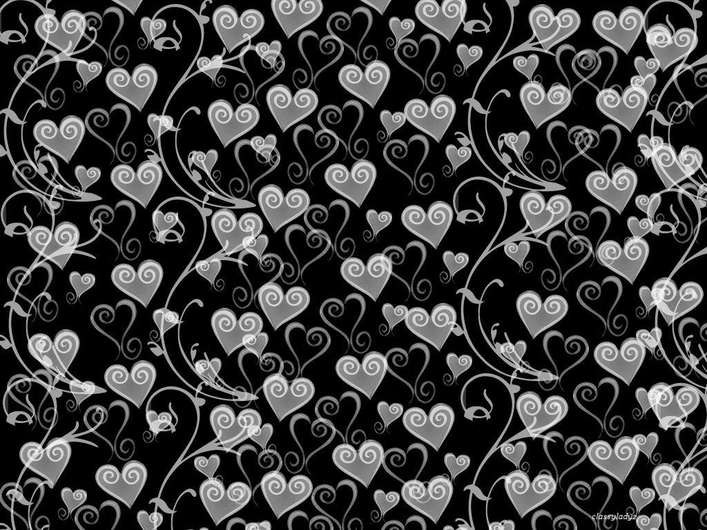 63 Black And White Heart Background On Wallpapersafari