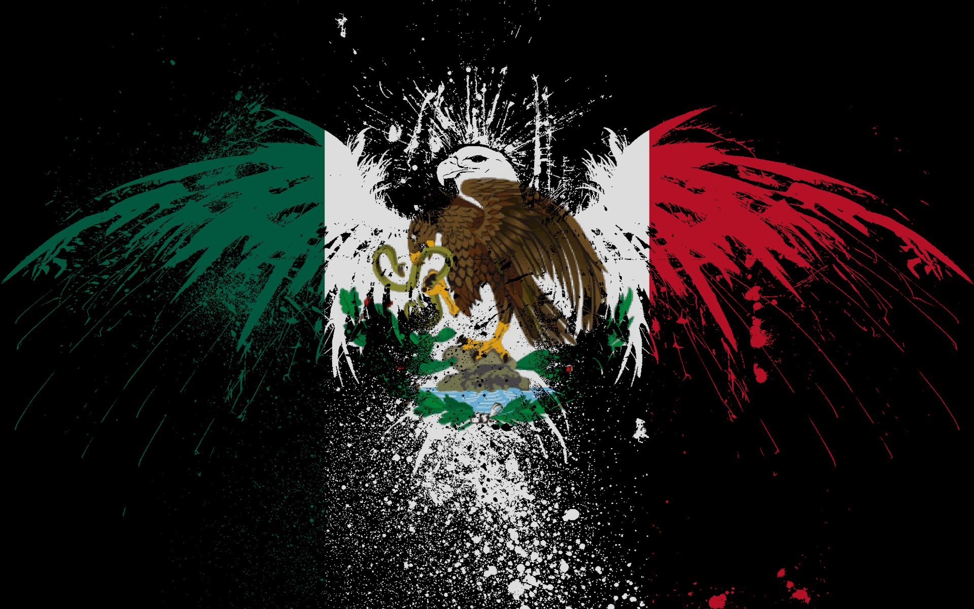 Mexico Flag Wallpaper Image Picture 1920x1200
