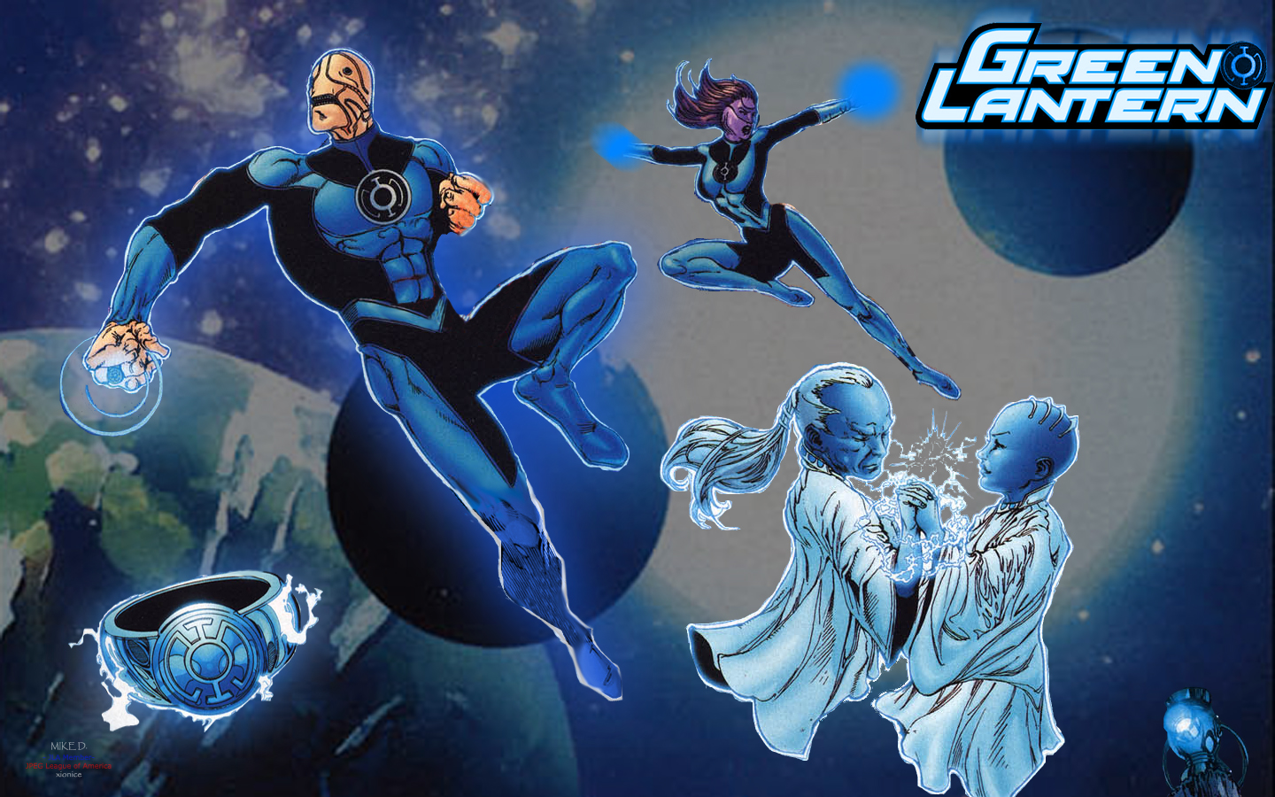 blue lantern corps by xionice fan art wallpaper books novels 2008 2015 1440x900