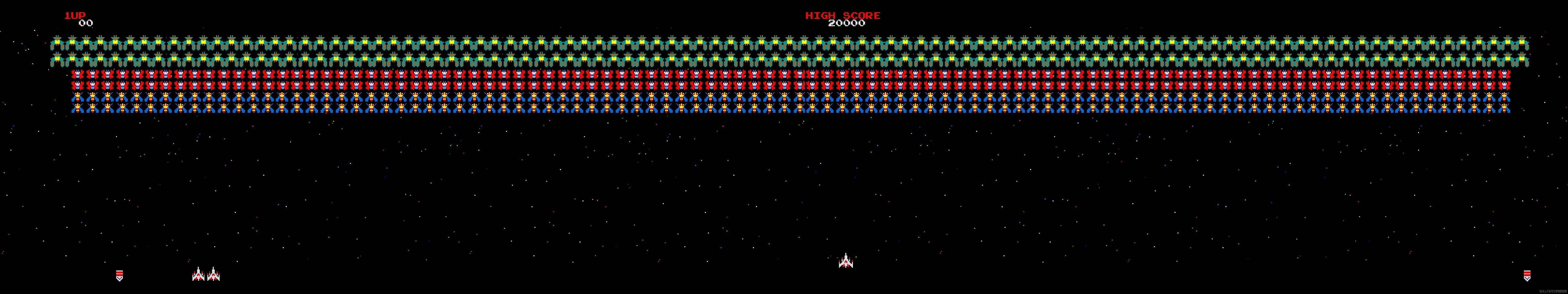 Galaga HD Wallpapers and Background Images   stmednet 5760x1080