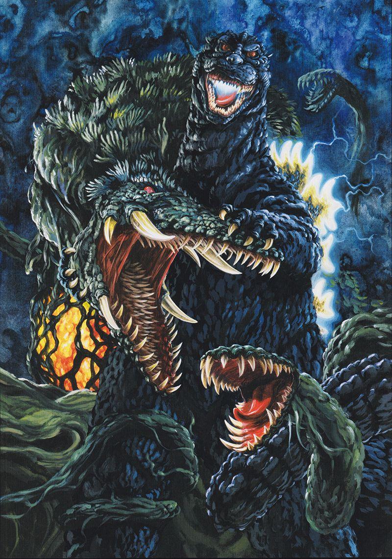 giantmonsterparty Godzilla vs Biollante by Yuji Kaida 800x1140