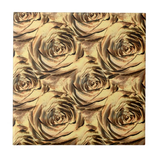 Bronze and Gold Rose Center Wallpaper Pattern Tile Zazzle 512x512