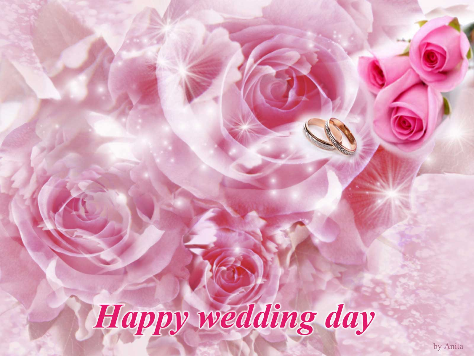 ofhappyweddingdaywithdoves Wallpapers Happy Wedding Day 1600x1200