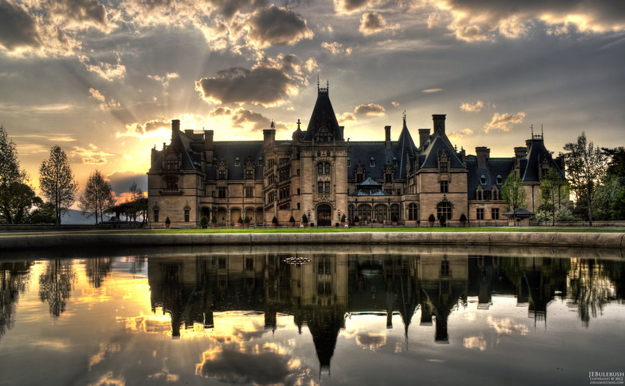 Biltmore House at Sunset   Asheville NC by Bulephotography on 900x557