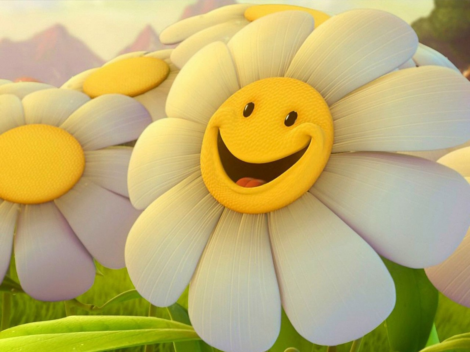 Cute 3D Flower Wallpaper 1600x1200