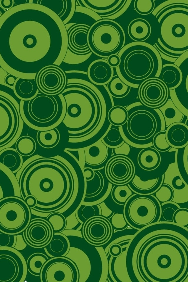 Green Circles IPhone HD Wallpaper Download 640x960
