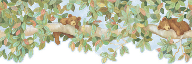 Bear Cubs Wallpaper Border   Rustic   Wallpaper   by Black Forest 640x214