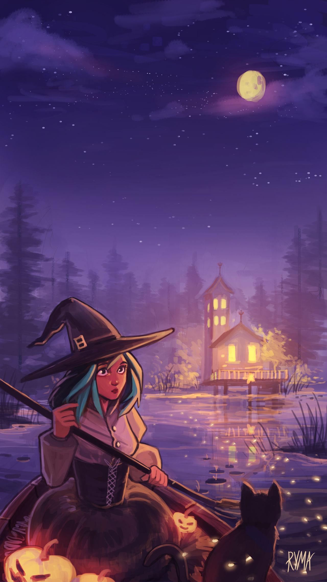 Blue Witch   Wallpaper by xstarrylightx 1280x2276